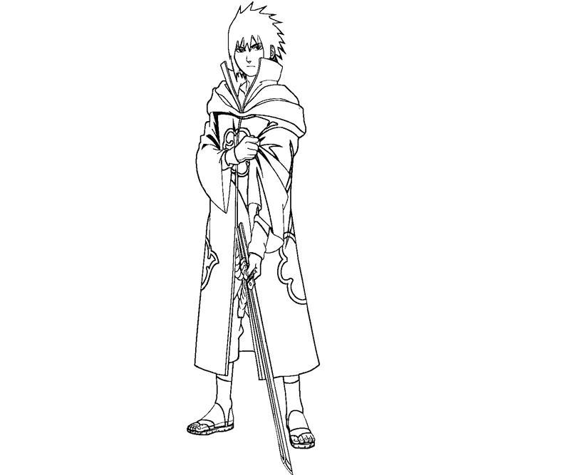 sasuke uchiha coloring pages - photo#11