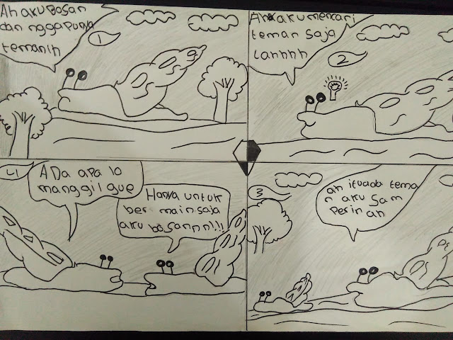 Komik karya anak kelas 5 SD - gurune.net