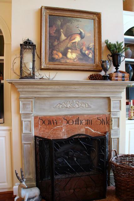 Savvy Southern Style Winter Mantel