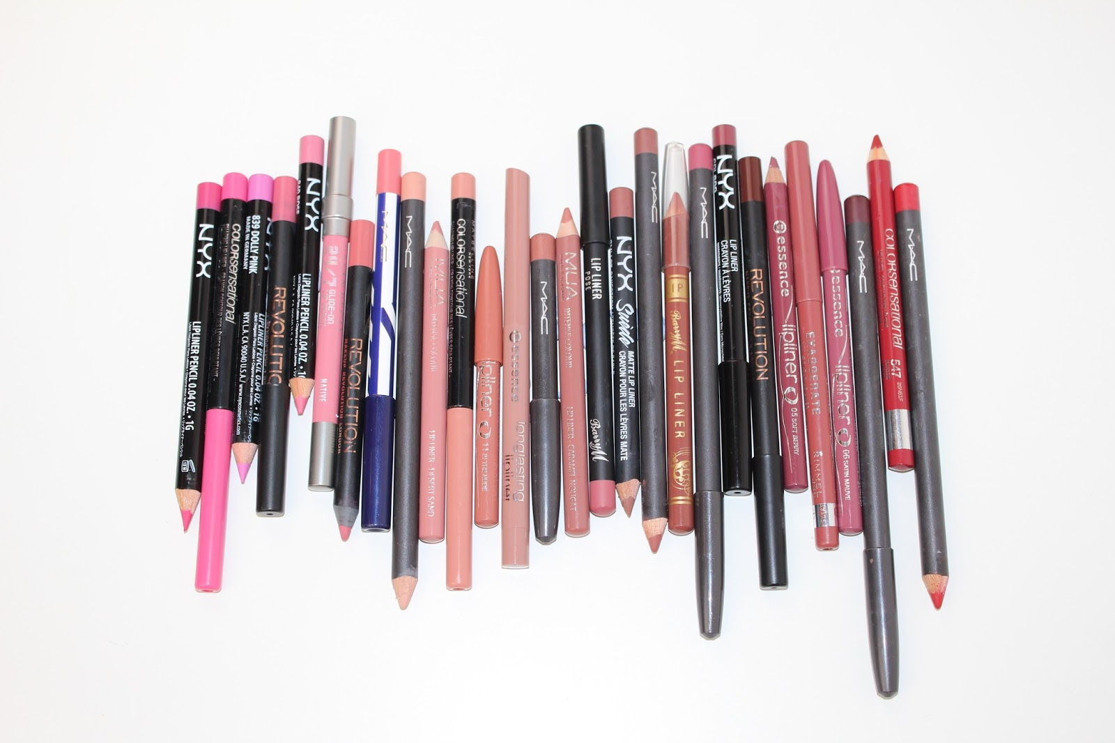 Lip Liner Collection and Swatches - Drugstore and High End