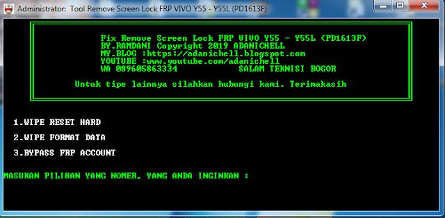 Fix Unlock Lupa Sandi/PIN Dan FRP Vivo Y55/Y55L (PD1613F)