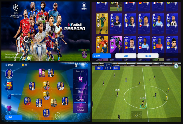Download PES 2020 Mobile UCL Patch Edition V3.3.1