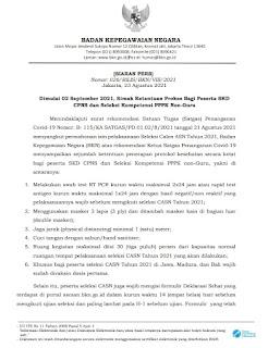 Ketentuan Prokes SKD CPNS dan Seleksi PPPK Non-Guru