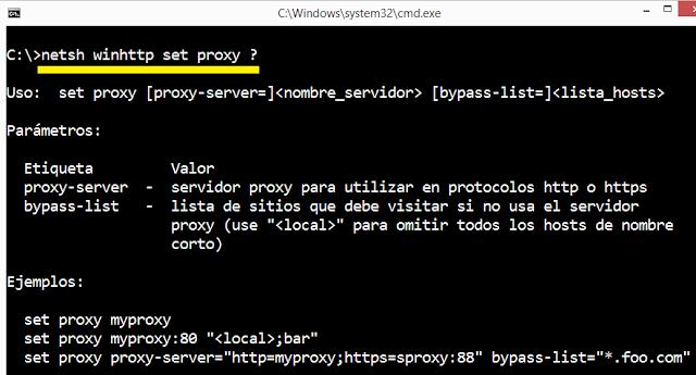 Windows: Update con proxy