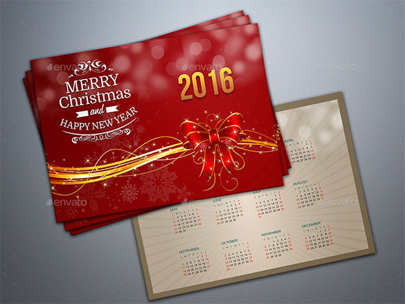 Christmas New Year Greeting Card PSD