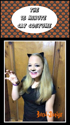 cat costume halloween tutorial quick easy make up face paint how to make ears
