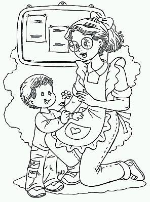 Te Cuento Un Cuento Dibujos Para El Día Del Maestro