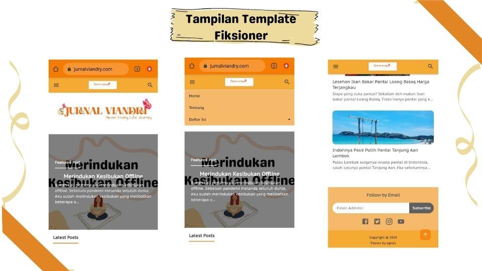 Senangnya Bisa Mengubah Template Blog dengan Fiksioner