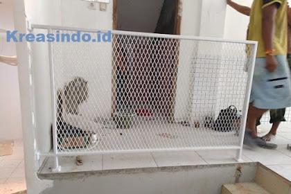 Balkon Besi Plat Expanded dan Kusen Aluminium pesanan Vindo Design di Blok M Jakarta