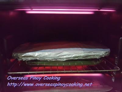 Baked Tulingan, Sinaing na Tulingan Style - Baking  Procedure