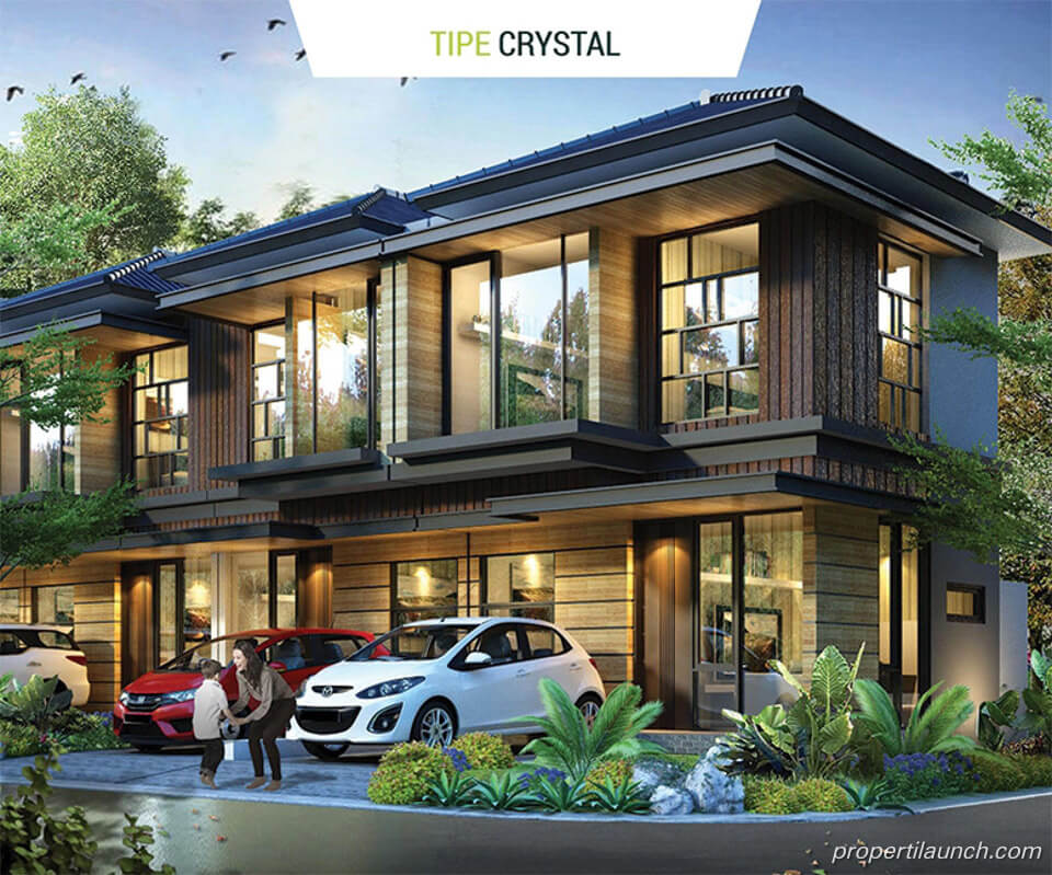 Rumah Golden Stone Serpong Cluster Agate Tipe Crystal
