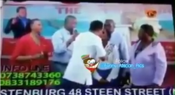 Watch video of a Ghanaian Pastor giving a holy kiss to his sick female member..lol