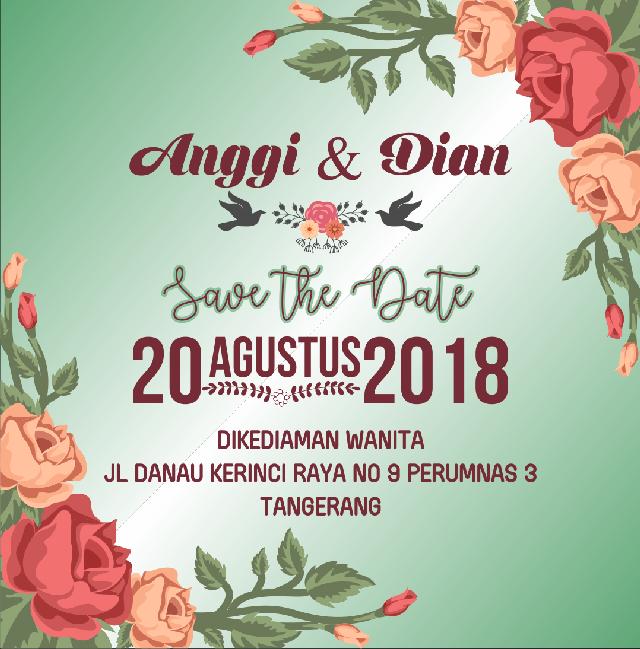 Undangan Pernikahan Wedding Invitation Kode Uno 05 Bati Offset