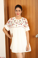 Lavanya Tripathi in Summer Style Spicy Short White Dress at her Interview  Exclusive 187.JPG