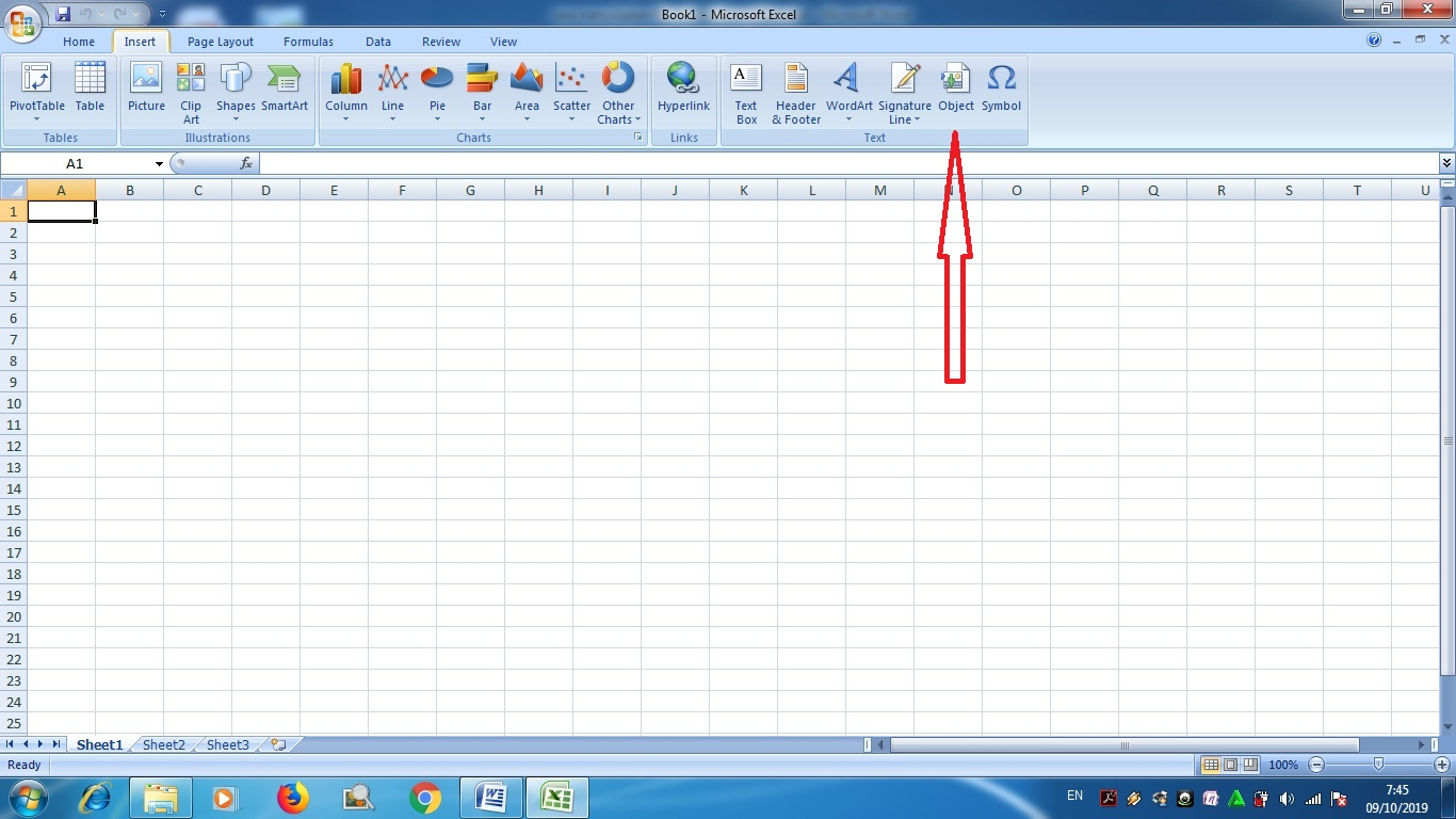 How To Insert A Microsoft Word File Into Microsoft Excel