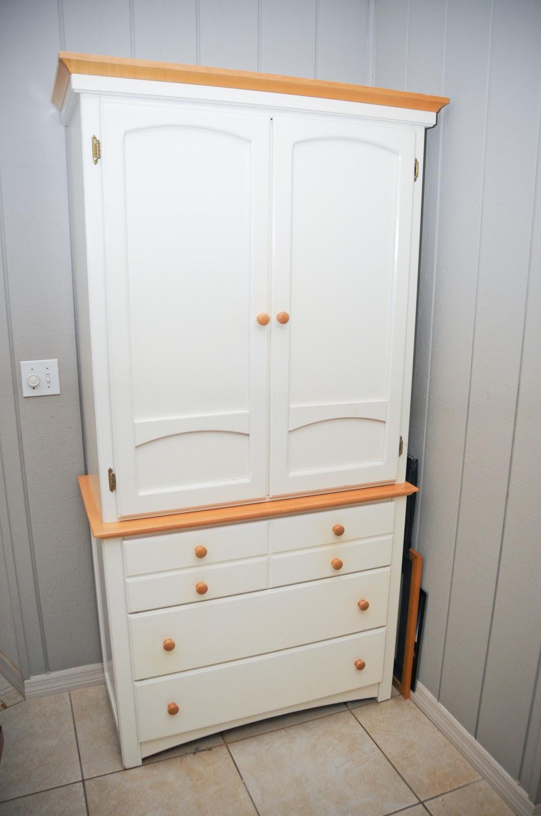 Sarasota craigslist things for sale White wood dresserarmoire combo set