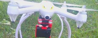 Drone menggunakan actioncam