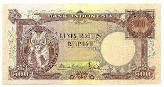 uang kuno Seri Hewan tahun 1957