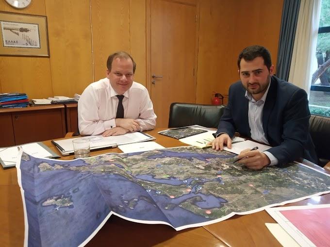 Συνάντηση Περιφερειάρχη Στερεάς Ελλάδας  κ. Φάνη Σπανού  με τον Υπουργό Υποδομών και Μεταφορών κ. Κώστα Αχ. Καραμανλή
