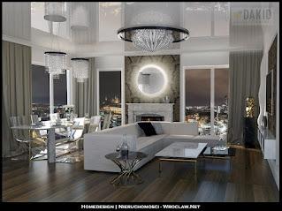 luksusowy salon w penthouse