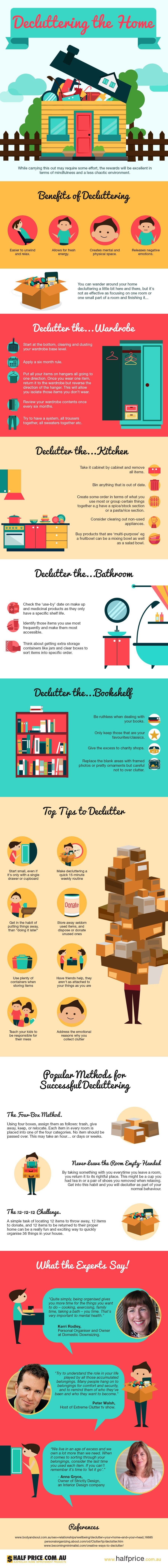Decluttering The Home #Infographic