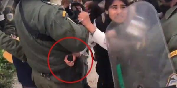 Μόρια: «Μετανάστρια» προσπάθησε να αρπάξει όπλο αστυνομικού