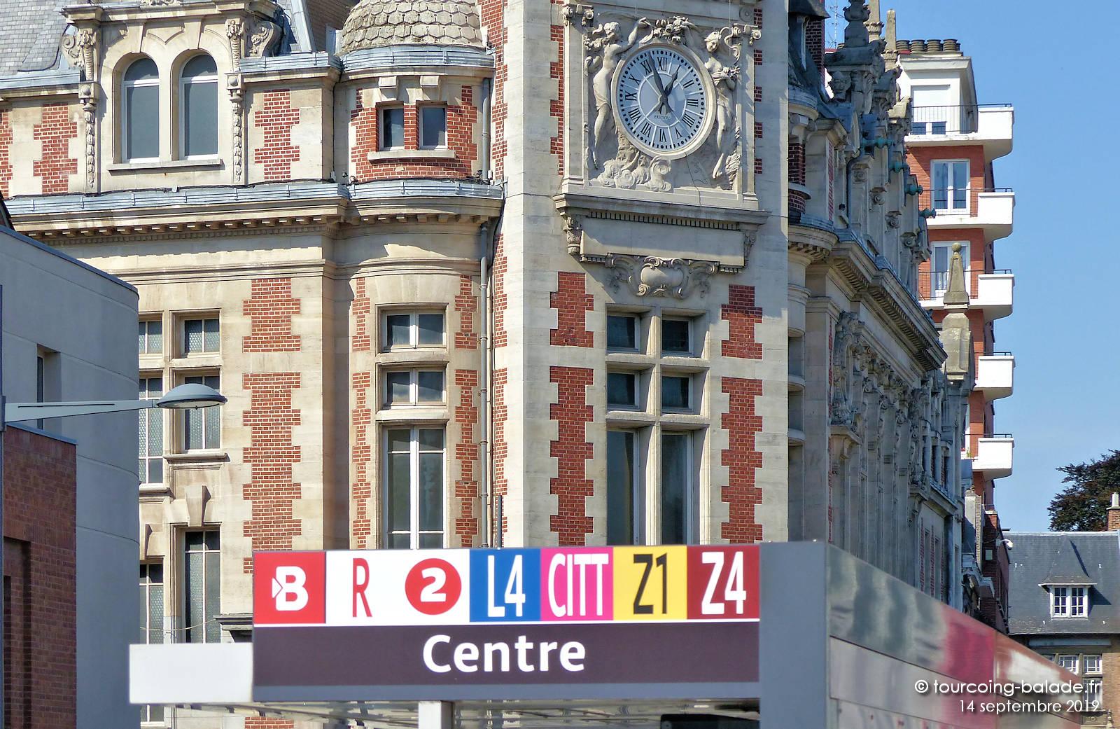 """Beffroi de Tourcoing - Arrêt Bus """"Centre"""""""