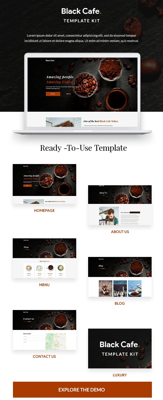 Black Cafe Template Kit