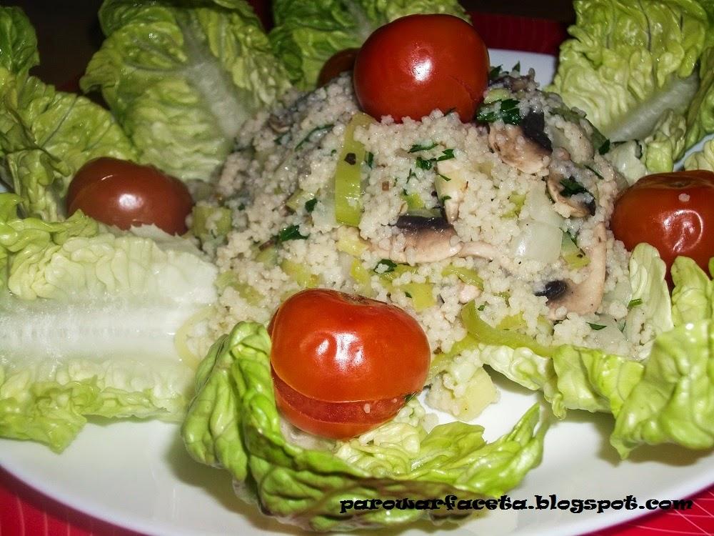 kuskus z warzywam w parowarze