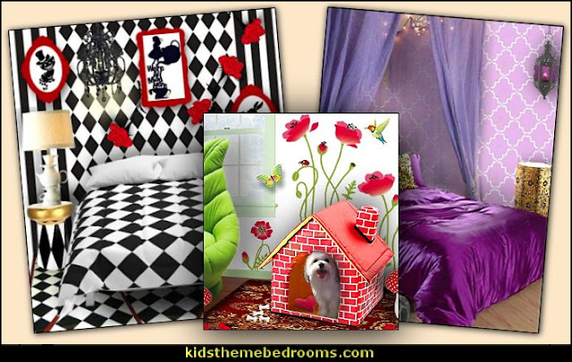 murals decals wallpaper bedrooms MURALS - door murals - wall murals - window sticker decals - ceiling murals - door posters - floor wallpaper - Styrofoam Crown Moldings - wall murals - wallpaper murals - floor decals - window wallpaper - Glow in the dark wall mural - decals for stairs  Alice in wonderland Jeannie pets gifts