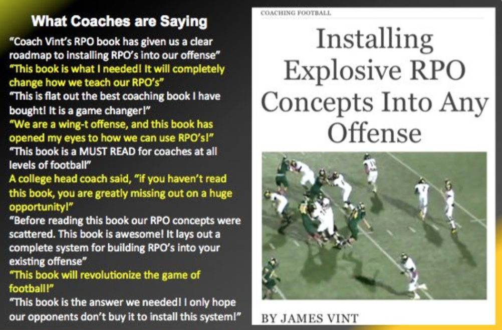 Coaches At All Level Of Football Tell Me This Is A Game Changer! The Book  Can Be Found For IBooks Here: Http://itunes.apple.com/us/book/id1078061959