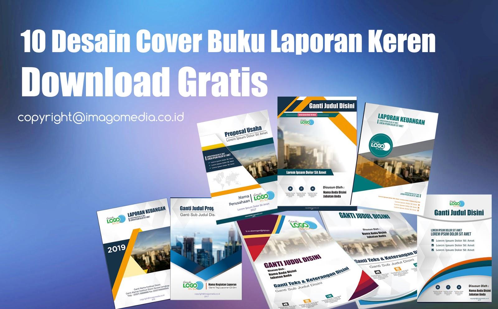 10 Desain Cover Buku Laporan Keren Download Gratis Imago Media Home Of Creativity