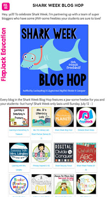 Shark Week Blog Hop in Flapjack Education
