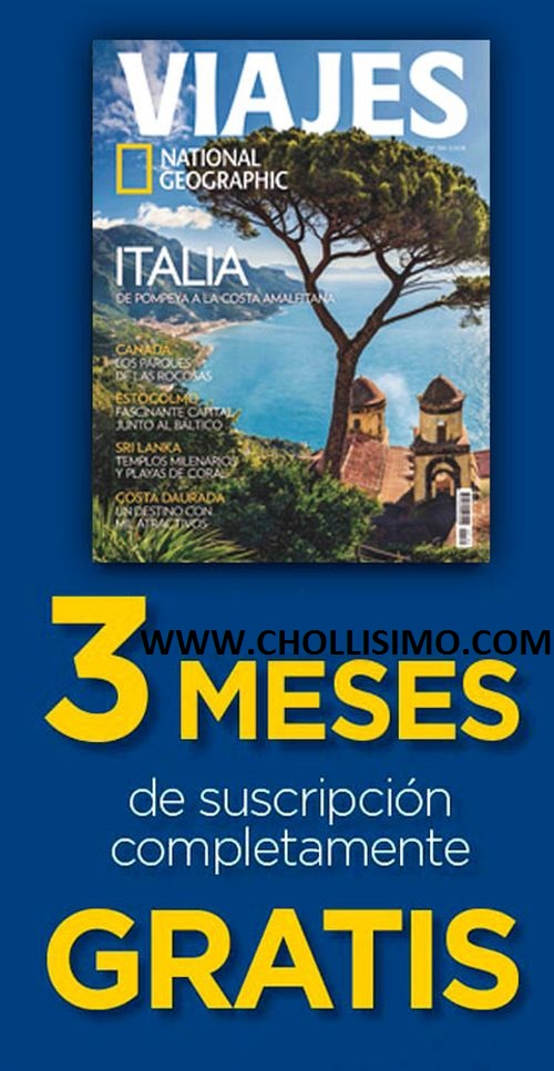 3 meses gratis de la revista VIAJES