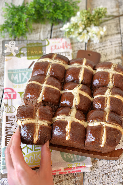super soft chocolate hot cross buns