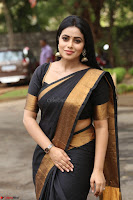 Poorna in Cute Backless Choli Saree Stunning Beauty at Avantika Movie platinum Disc Function ~  Exclusive 097.JPG