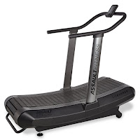 Assault Fitness Air Runner, burns up to 30% more calories than a standard motorized treadmill, promotes correct running stride, runs on your own energy