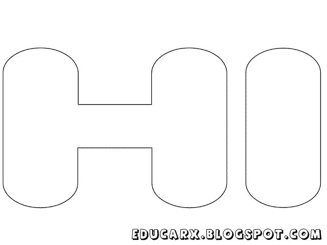 Molde de letras grandes hi