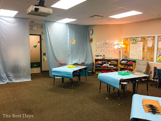 This classroom is set up for Contraction Surgery!