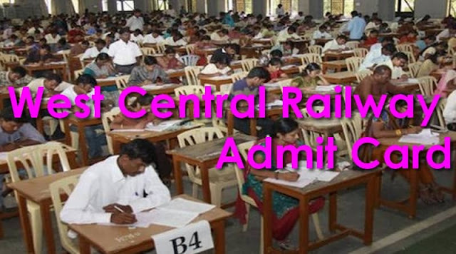 West Central Railway Admit Card