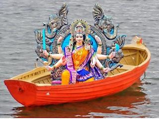 इस नवरात्रि माता आदिशक्ति दुर्गा का नौका पर होगा आगमन और हाथी पर होगी विदाई