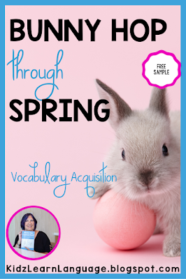 bunny themed vocabulary  game for speech therapy