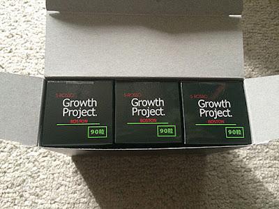 1箱に3つのBOSTON90粒入りが入ってます