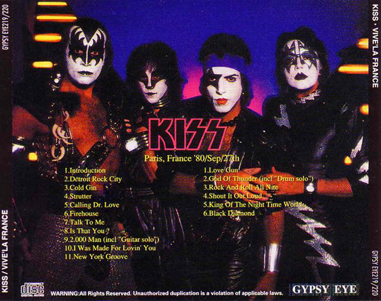 RELIQUARY: Kiss [1980.09.27] Vive 'La France (Gypsy Eye