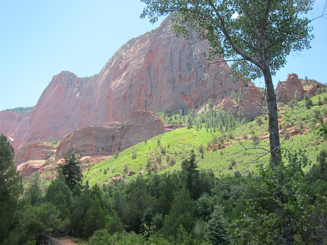 photo of Navajo Sandstone formation in Kolob Canyons