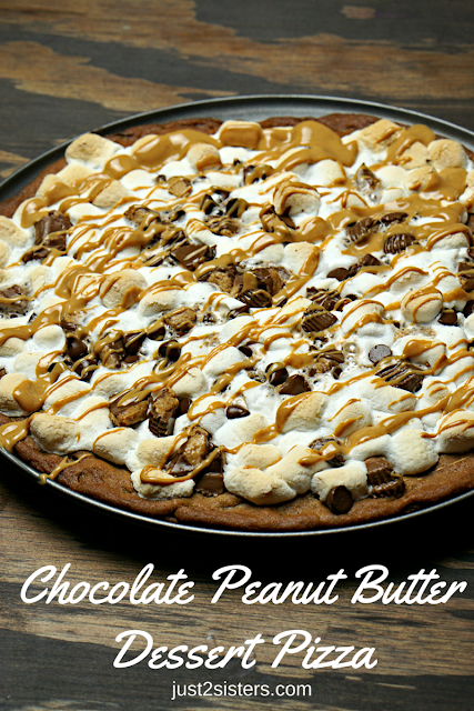chocolate peanut butter dessert pizza recipe