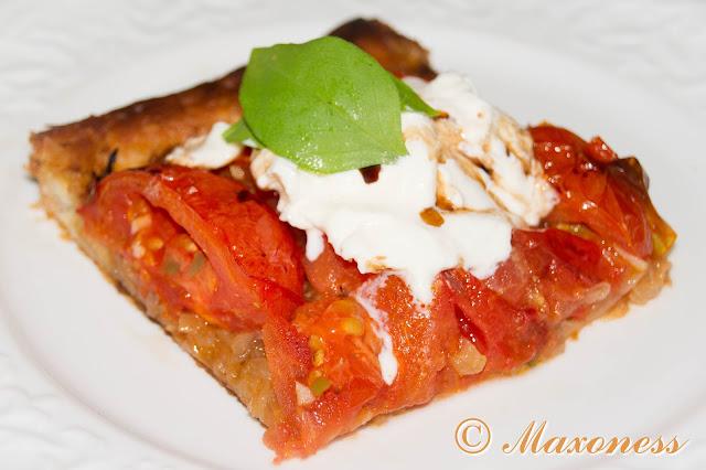 Тарт с помидорами и бурратой от Гордона Рамзи