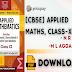 Applied Mathematics, Class-XI by N. R. Jain M. L. Aggarwal PDF Download