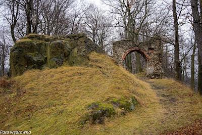 Zamkowa Góra, zamek Nowy Dwór (ruiny)