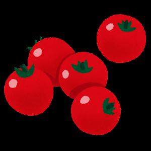 ミニトマトのイラスト(赤)